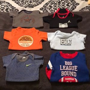 6-size 6/9 Months Name brand Onesies Lot of 6